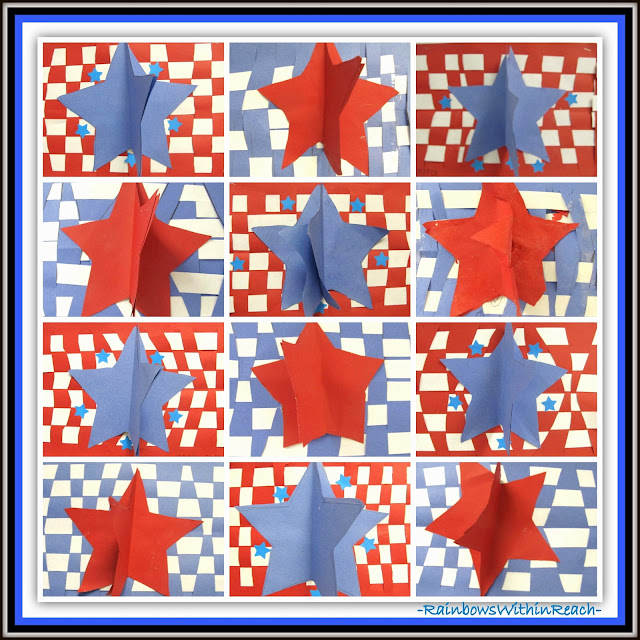 photo of: Patriotic Art Projects for Elementary School via RainbowsWithinReach