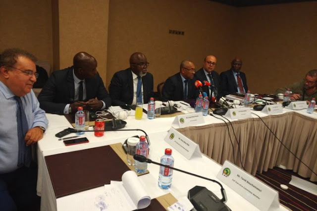 CAF Executive Committee at the meeting in Accra where Cameroon was stripped of the 2019 AFCON hosting rights