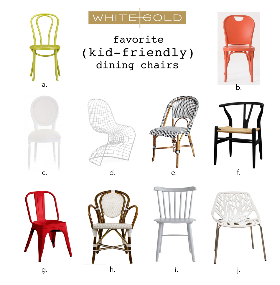 Brilliant White Gold Our Fav Kid Friendly Dining Chairs Creativecarmelina Interior Chair Design Creativecarmelinacom