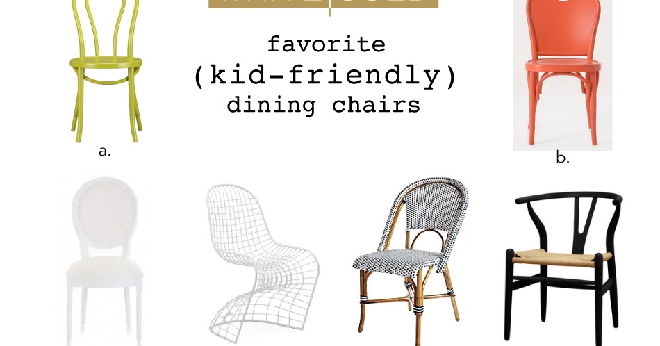 White And Gold Dining Chairs: WHITE + GOLD: OUR FAV KID-FRIENDLY DINING CHAIRS