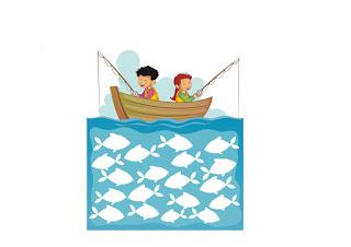 ilustración  niños pescando CANAM