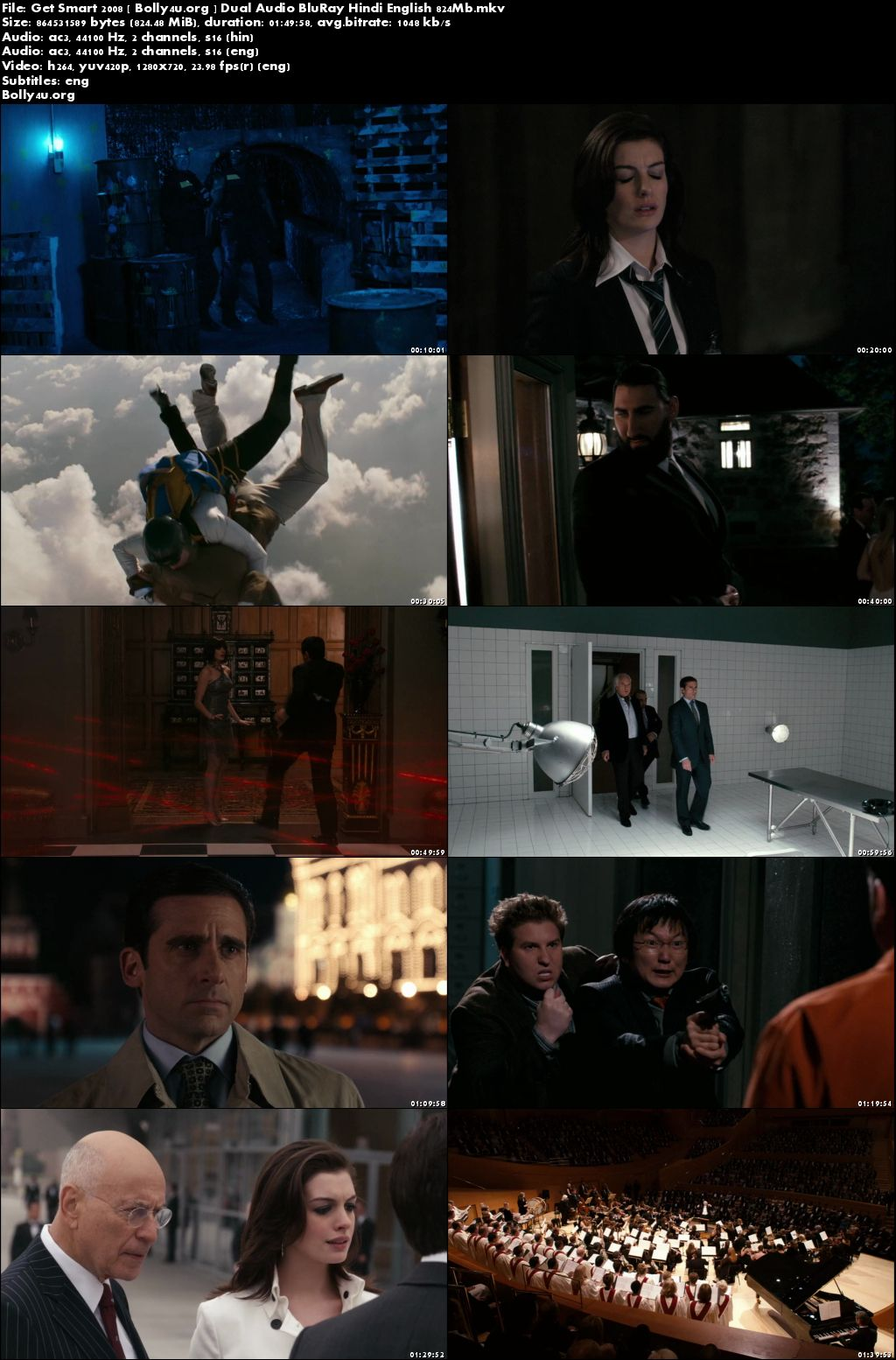 Get Smart 2008 BluRay 800MB Hindi Dual Audio 720p Download