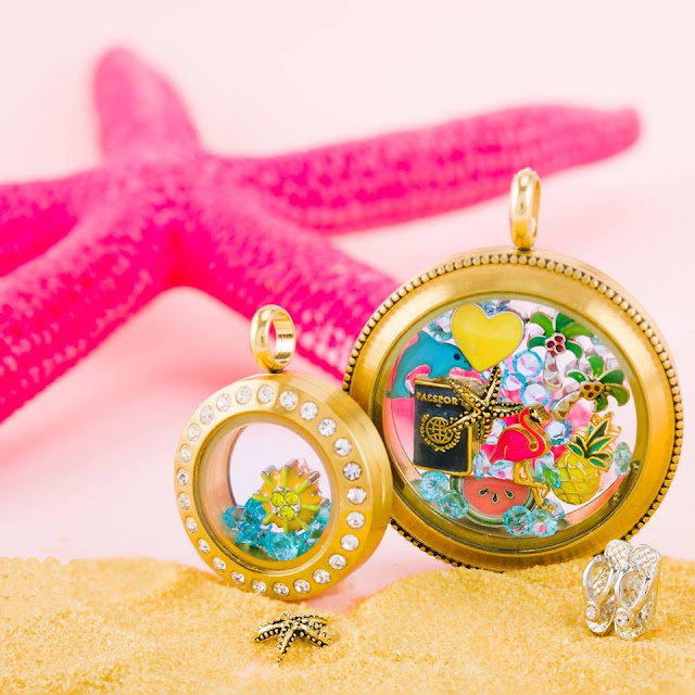 Origami Owl Travel and Vacation Living Lockets from StoriedCharms.com