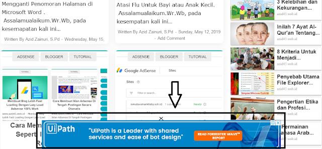 Cara Mudah Membuat Iklan Adsense Melayang Dibagian Bawah Pada Blogger (Iklan Sticky Desktop)