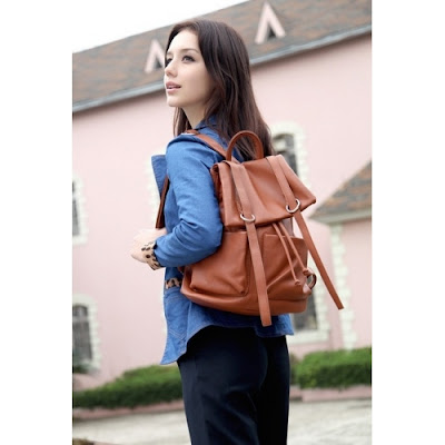 HB3238 BACKPACK - BROWN