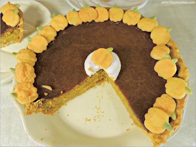 Corte de la Tarta de Calabaza: Pumpkin Pie