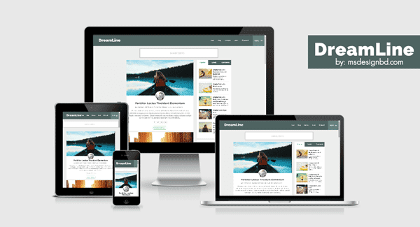 Responsive blogger template for personal blogging