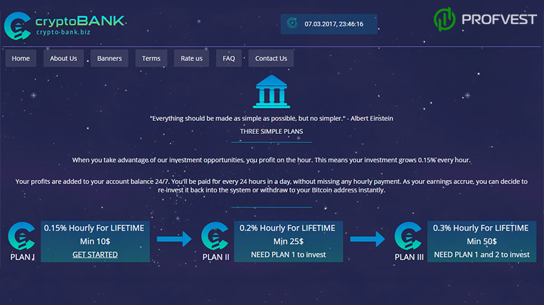 Crypto Bank обзор и отзывы вклад 515$
