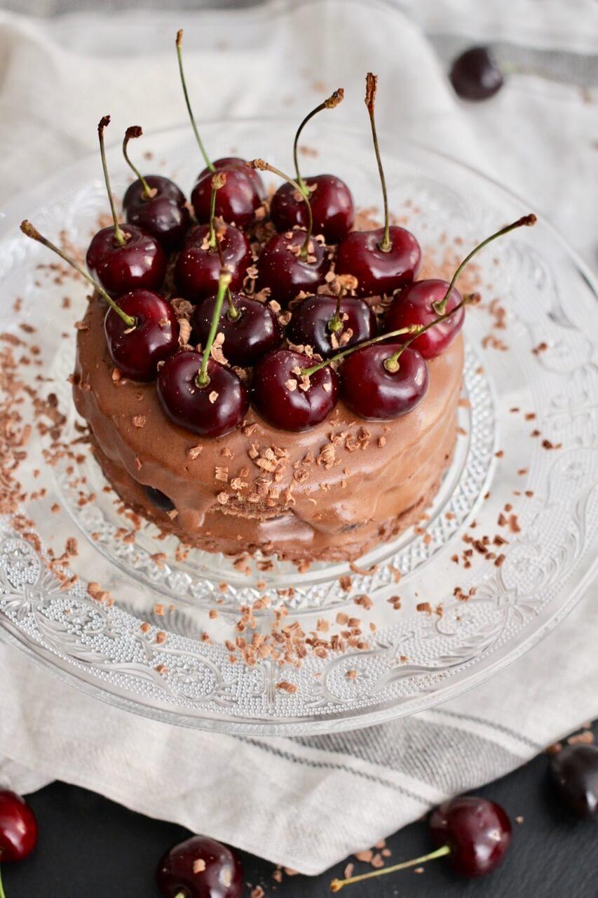 Rezept für Schokoladen Kirsch Kuchen