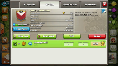 Jual Clan COC Level 5