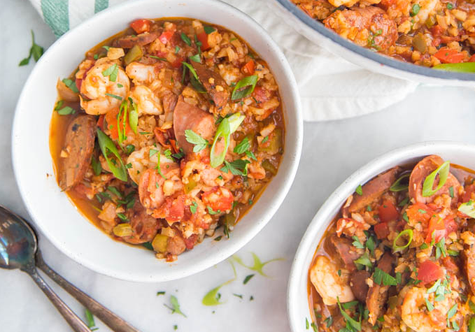 Healthy Jambalaya (Whole30, Low Carb, Paleo) #healthyfood #dietketo