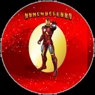 Toppers o Etiquetas de Iron Man para imprimir gratis.