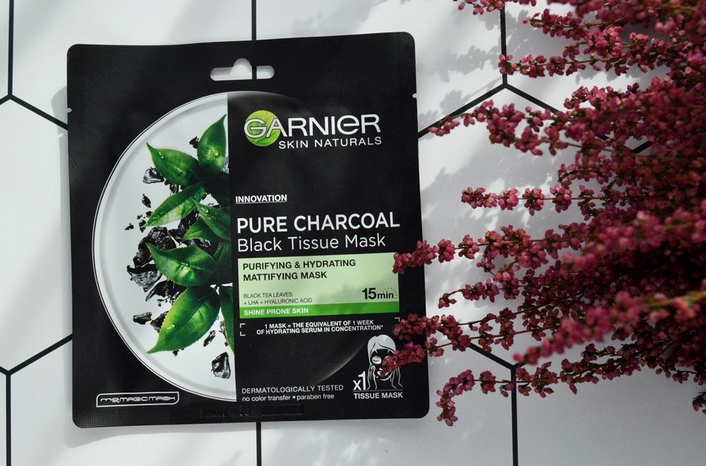 Garnier, Pure Charcoal, Maska matująca z węglem i ekstraktem z liści czarnej herbaty
