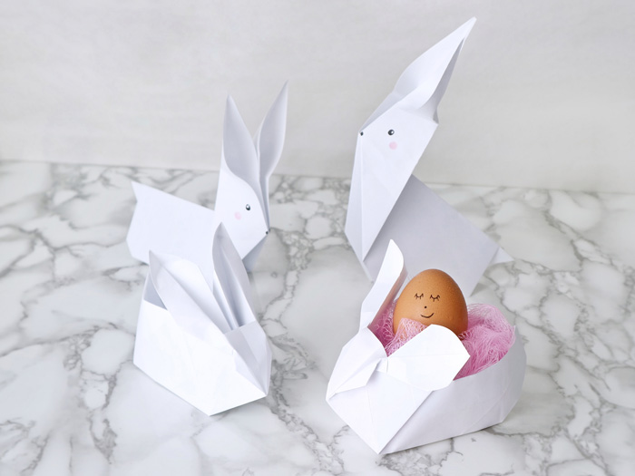 DIY Origami Easter Bunnies
