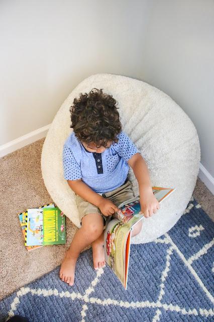 Cozy Bean Bag in a Reading Nook