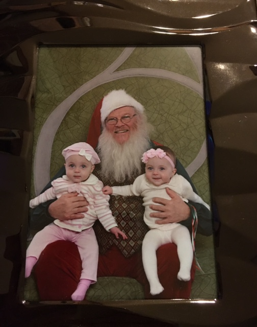 twins with santa