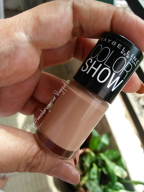 Maybelline Color Show nail enamel- Nude Skin Review