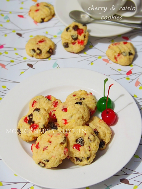 cherry raisin cookies