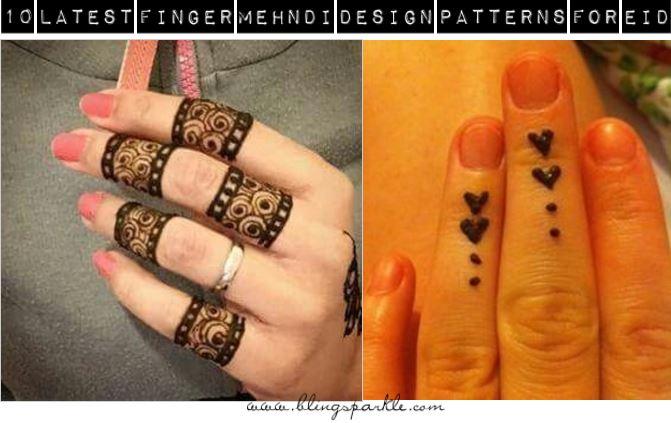 Mehndi For Thumb : Latest finger mehndi design ideas for eid bling sparkle