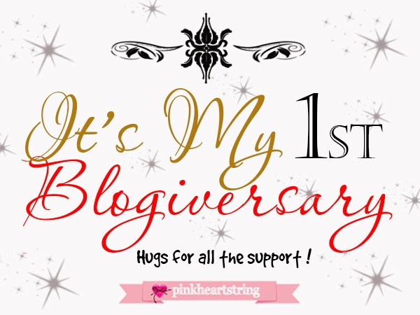 First Blogiversary+Lazada Voucher+Blogger Giveaway!