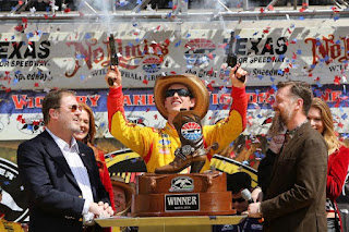 Joey Logano Celebrates His 2014 Win #NASCAR