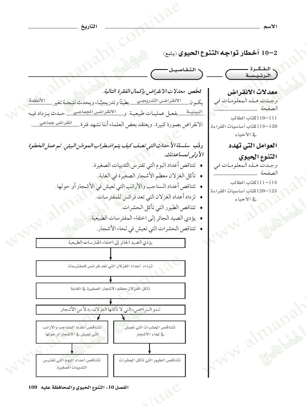 حل دليل الانشطة المخبرية أحياء الصف الحادي عشر المتقدم علوم الفصل الثاني 2017 2018 المناهج الإماراتية