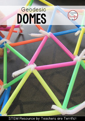 STEM Challenges: Straws are such a great material to use for your STEM projects. They are easy to use, come in many colors and sizes, and they are inexpensive! Can you build a geodesic dome using straws?