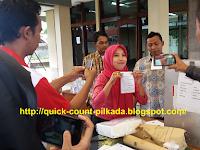 Hasil Quick Count/Hitung Cepat Pilwalkot Cimahi 2017