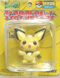 Pichu figure Tomy Monster Collection yellow package series