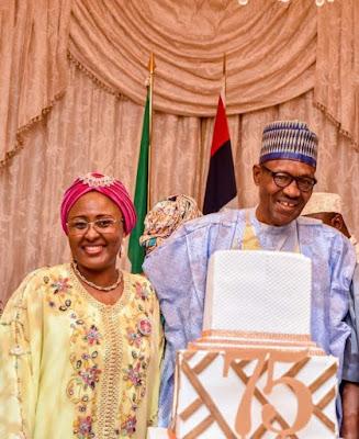 buhari1 - 9JA NEWS: #PMBAt75: Governors, Saraki, Dogara, Tinubu, Well-wishers surprise Buhari on his 75th Birthday