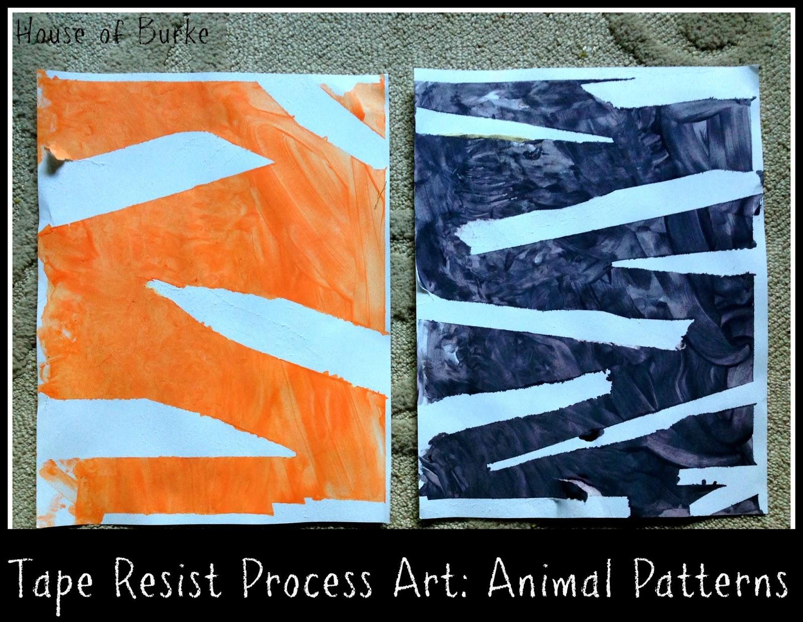 House Of Burke Tape Resist Process Art Creating Animal Patterns