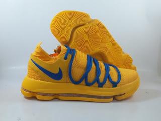 Nike KD 10 - Yellow Blue  Sepatu Basket Replika Import Premium   SIZE: 40-46  Harga : Rp.625.000  Beli tinggal klik :