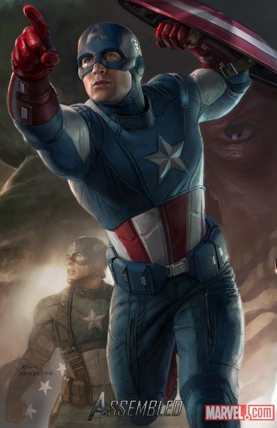 Ryan Meinerding ilustración Capitán América
