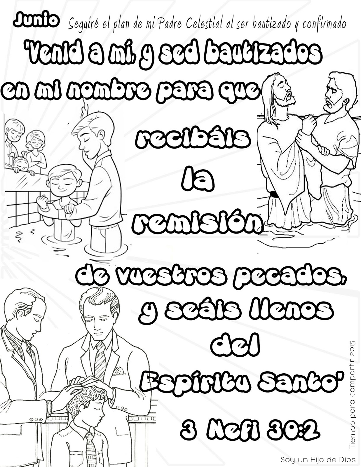 Magnífico Jesús Bautismo Para Colorear Lds Elaboración - Dibujos ...