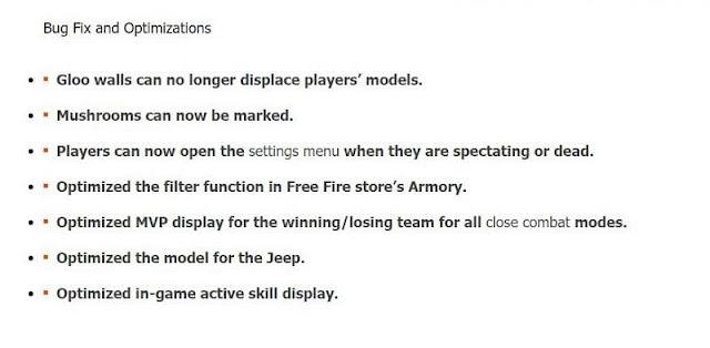 Free Fire OB24 güncellemesi: Tüm yeni değişiklikler
