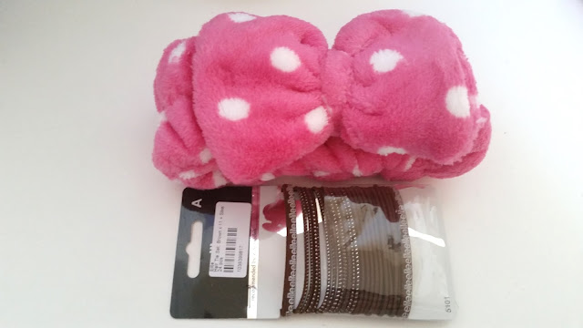 Magic Beauty Hair Band (Pink) and Elite Hair Tie Set (brown)