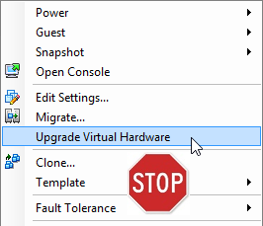 VMware Front Experience: How to upgrade your VMs' virtual