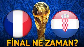 2018 fifa dünya kupası final maçı, 2018 dünya kupası finale çıkan takımlar, 2018 dünya kupası final maçı, 2018 dünya kupası finali ne zaman, 2018 dünya kupası finali saat kaçta, dünya kupası hangi kanalda