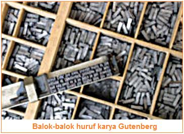 Balok-balok huruf karya Gutenberg