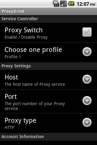 Android Development Tutorials: ProxyDroid Proxy for Android