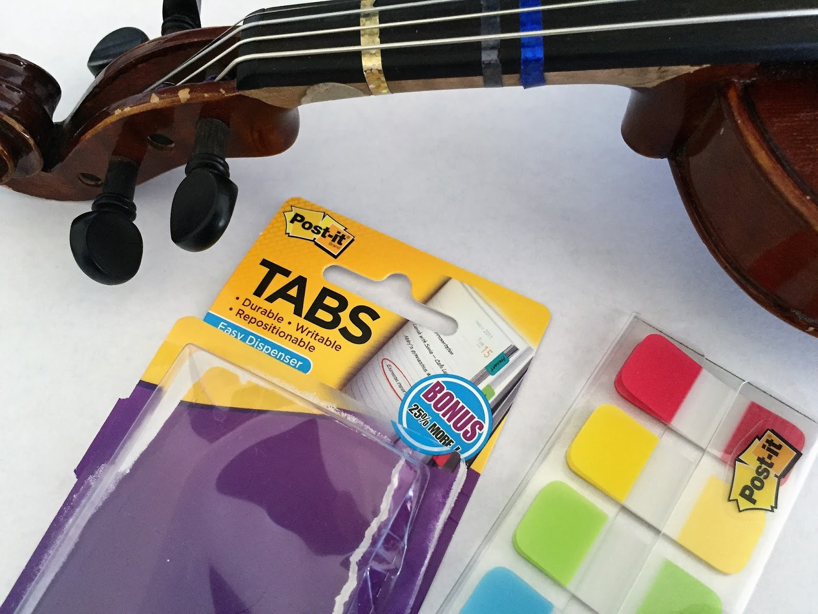 Orchestra Classroom 5 Ways To Use Post It Tabs To Help Violin And