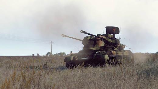 Arma3用MODの自走対空砲の Gepard 1A2