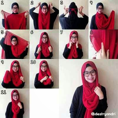 Tutorial Hijab Paris terbaru