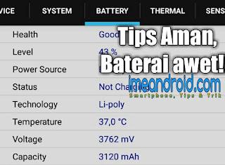 Baterai hp tidak cepat rusak