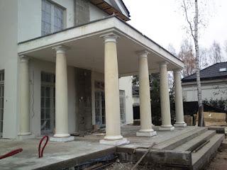 toskanische saule, kolumny betonowe