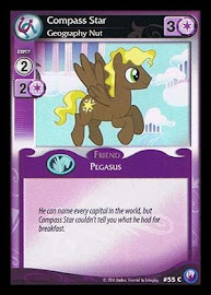 My Little Pony Compass Star, Geography Nut Canterlot Nights CCG Card