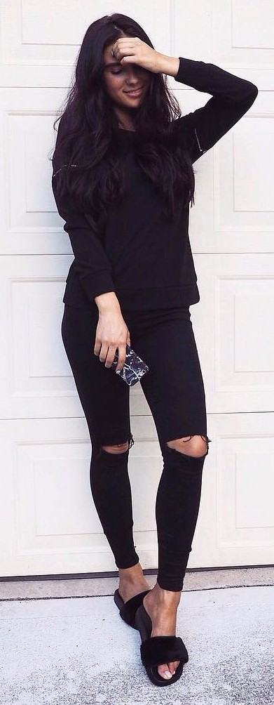 all black everything: street style