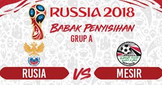 Susunan Pemain Rusia vs Mesir, Mohamed Salah Starter