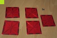 Quadrat rot: Playbees 100 Teile Magnetische Bausteine Set für 2D und 3D Form Konstruktionen, Regenbogenfarben Magnetspielzeug, Baukasten Magnetspiel, Magnetbausteine