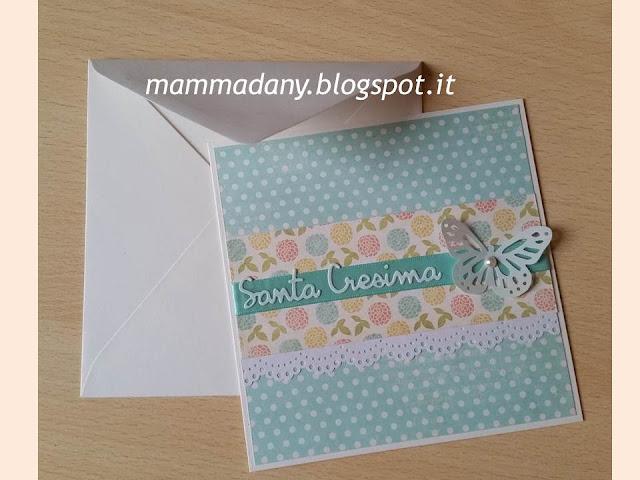 Card Santa Cresima per ragazza